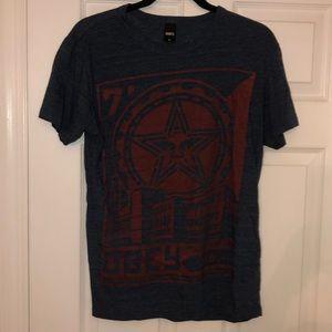 Obey Men's Dark Blue T-Shirt